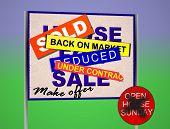 Desesperado para sinal de venda de imóveis