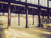 Retro Look Abandoned Factory