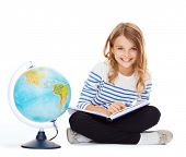 stock photo of pre-teen girl  - education and school concept  - JPG