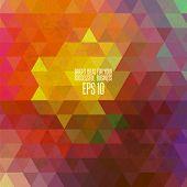 Retro style spectrum geometric background