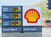 Sacramento, Usa - September 5: High Shell Gas Price On September 5, 2013 In Sacramento, California.