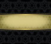 Gold Rectangular Frame On A Black Background