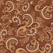 Seamless Brown Paisley Pattern