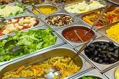 Colourful buffet