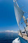 Sailing boat in the sea in Greece