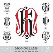 picture of monogram  - Vintage monogram set - JPG