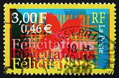 Postage Stamp France 2000 Felicitations, Greeting Card