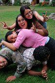 A Pile Of Hispanic Students