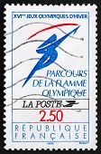 Postage Stamp France 1991 Olympic Flame