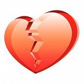 Broken Heart. Vector.