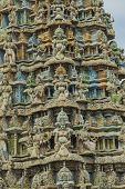 stock photo of swami  - Close up of a Hindu temple in Trincomalee Sri Lanka - JPG