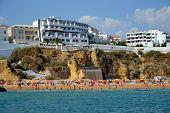 stock photo of vilamoura  - Beach Peneco Albufeira Algarve Portugal summer sea - JPG