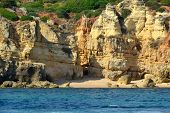 Cliffs Baleeira, Albufeira In The Algarve
