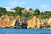 picture of vilamoura  - Cliffs Baleeira Albufeira in the Algarve Portugal - JPG