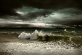 image of storms  - View of storm seascape - JPG