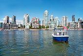 Commuter Passenger Ferry in False Creek, Vancouver, British Columbia, Canada
