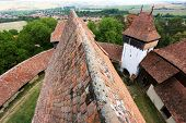 Viscri fortified church, in Transylvania, Romania, Europe