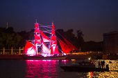 ST.PETERSBURG, RUSSIA - JUNE 24: Celebration Scarlet Sails show during the White Nights Festival, Ju