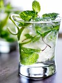 stock photo of mojito  - mojito cocktail close up - JPG