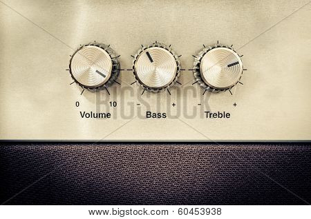 Sound Volume Controls In Vintage Style poster