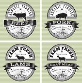 Icons Pig, Cow, Sheep, Goat