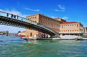 VENICE, ITALY - APRIL 13: Ponte della Costituzione over the Grand Canal on April 13, 2013 in Venice,