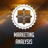 Marketing Analysis Concept on Triangle Background.