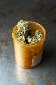 Marijuana Grunge Background