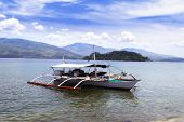 image of olongapo  - Philippines Fishing Boat near Olongapo City Subic Bay - JPG