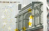 Detail Of Euro Fifth Money Banknote