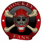 Emblem scull of hockey fans