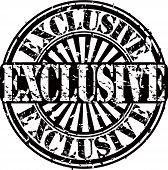 picture of exclusive  - Grunge exclusive rubber stamp - JPG