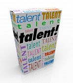 Talent Word Box Package Product Sell Market Your Skills