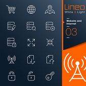 Lineo White & Light - Website and Internet outline icons