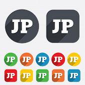 Japanese language sign icon. JP translation