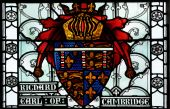 Stained Glass Window Heraldry Detail