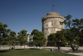 White Tower the most famous monument of Thessaloniki Greece