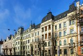 Eelizabetes Street In Riga, Latvia