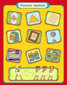pic of matzah  - Cute and colorful Passover holiday symbols - JPG