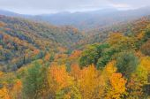 image of blue ridge mountains  - Autumn landscape Blue Ridge Parkway - JPG