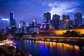 MELBOURNE, AUSTRALIA - FEBRUARY 22,2014: Melbourne's White Night attracted more than 500,000 visitor