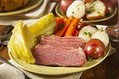 pic of brisket  - Homemade Corned Beef and Cabbage with Potatoes and Carrots - JPG