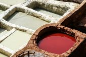 Fez, Morocco. The Tannery Souk Of Weaversrs