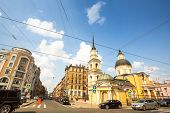 ST.PETERSBURG, RUSSIA - JUN 26, 2013: One of the streets in historical center. Petersburg ranked 10t