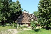 rural house in Carpathian region in Ukraine