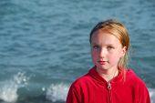 Girl Portrait Water poster