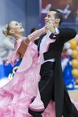 Minsk-belarus, February, 9: Egor Kosyakov-anastasiya Belmach Perform Adult Standard European Program
