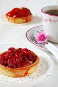 Romantic Tea Party: Fruit Cakes And Flower Azalea