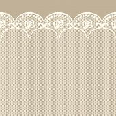 Seamless Lacy Border. Objects Grouped And Named In English. No Mesh, Gradient, Transparency Used.