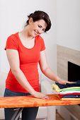 Happy Woman Doing Housework